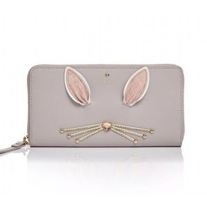 New Kate Spade Hop To It Bunny Rabbit Wallet